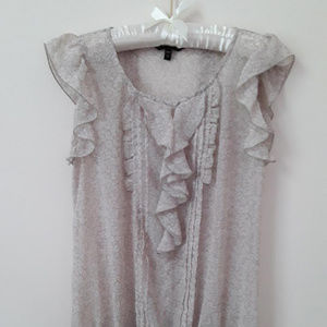 EXPRESS sheer ruffled summer top